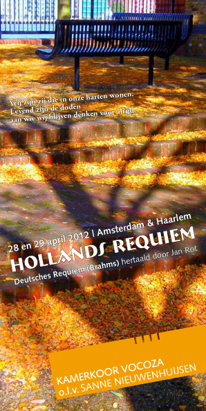 Flyer Vocoza Hollands Requiem april 2012