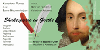 Flyer Shakespeare en Goethe